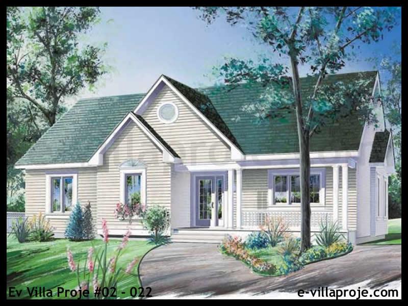 Ev Villa Proje #02 – 022, 1 katlı, 2 yatak odalı, 125 m2