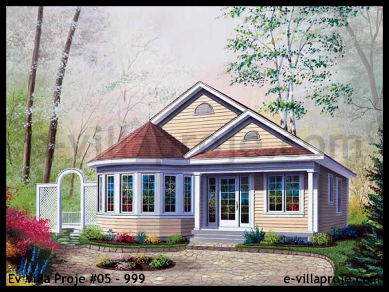 Ev Villa Proje #05 – 999, 1 katlı, 2 yatak odalı, 96 m2