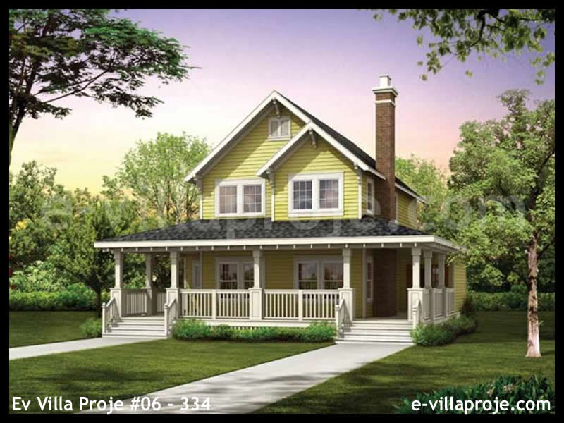 Ev Villa Proje #06 – 334, 2 katlı, 3 yatak odalı, 134 m2