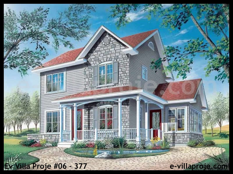 Ev Villa Proje #06 – 377, 2 katlı, 3 yatak odalı, 137 m2