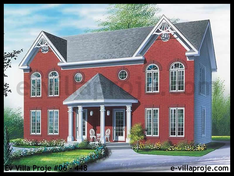 Ev Villa Proje #06 – 448, 2 katlı, 3 yatak odalı, 108 m2