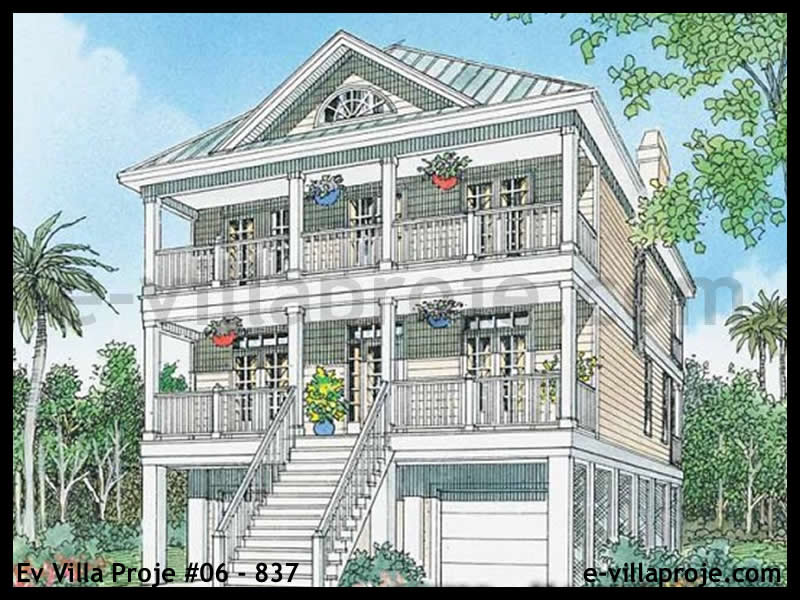 Ev Villa Proje #06 – 837, 3 katlı, 3 yatak odalı, 202 m2