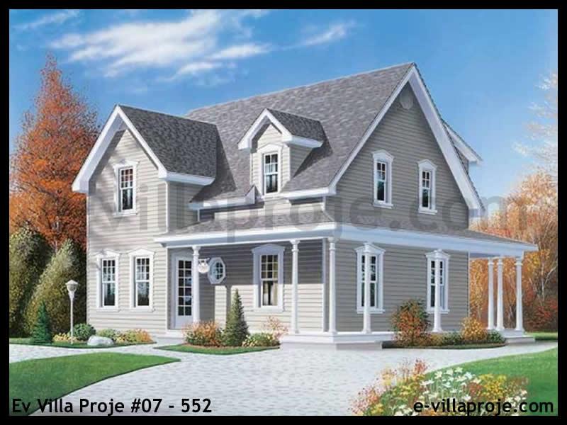 Ev Villa Proje #07 – 552, 2 katlı, 3 yatak odalı, 147 m2