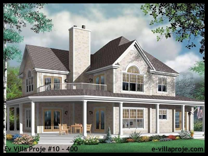 Ev Villa Proje #10 – 400, 2 katlı, 4 yatak odalı, 270 m2