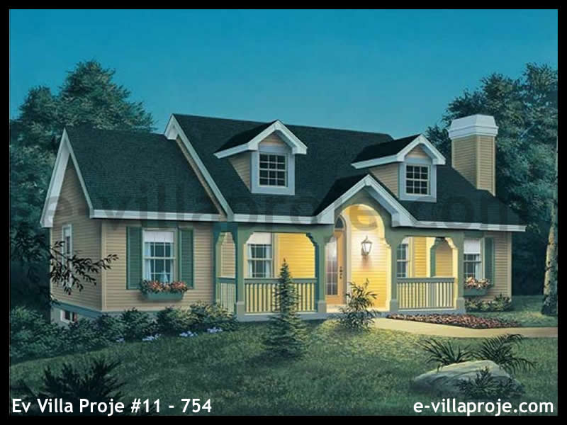 Ev Villa Proje #11 – 754, 1 katlı, 3 yatak odalı, 103 m2
