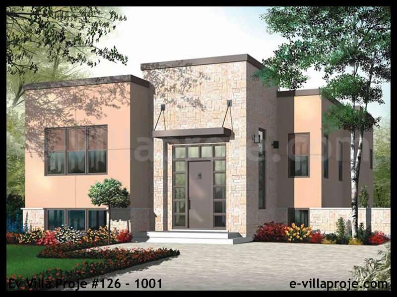 Ev Villa Proje # 126 – 1001, 1 katlı, 2 yatak odalı, 109 m2