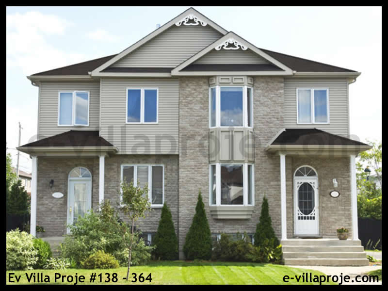 Ev Villa Proje #138 – 364, 2 katlı, 3 yatak odalı, 110 m2