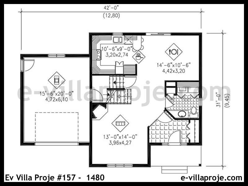 Ev Villa Proje #157 –  1480