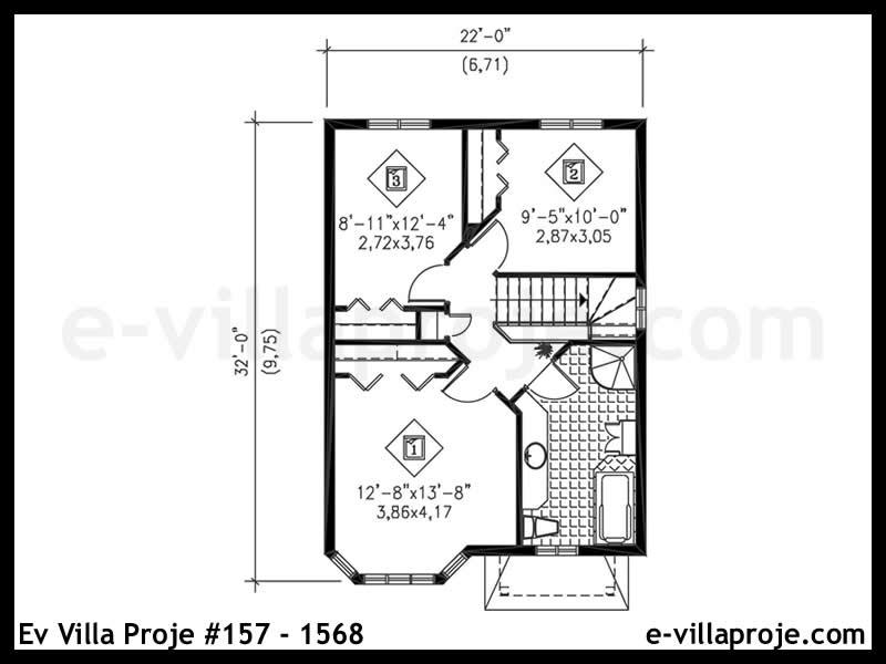 Ev Villa Proje #157 – 1568