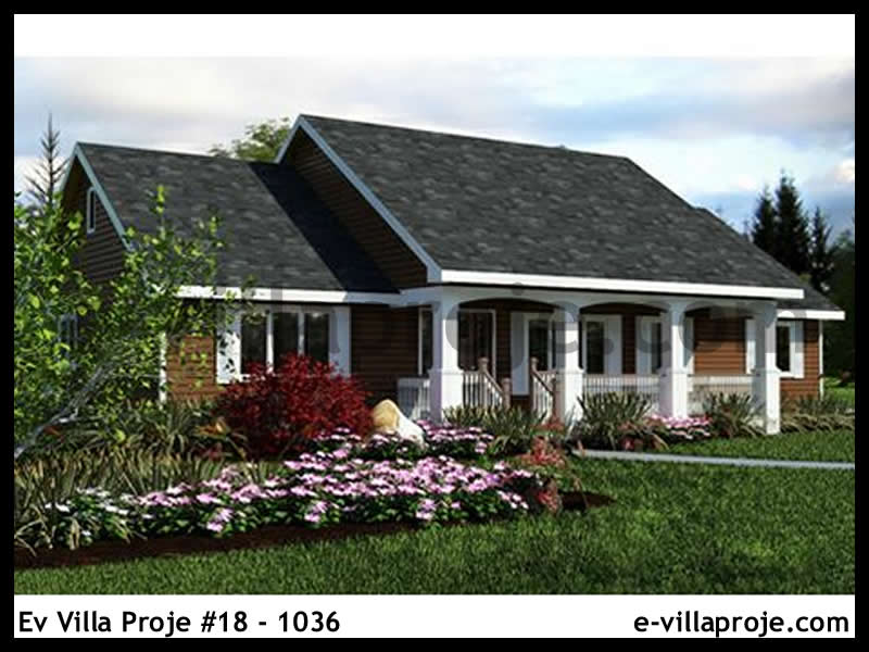 Ev Villa Proje #18 – 1036, 1 katlı, 3 yatak odalı, 128 m2