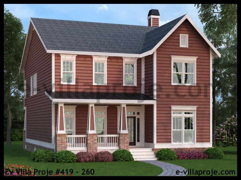 Ev Villa Proje #419 – 260, 2 katlı, 4 yatak odalı, 271 m2
