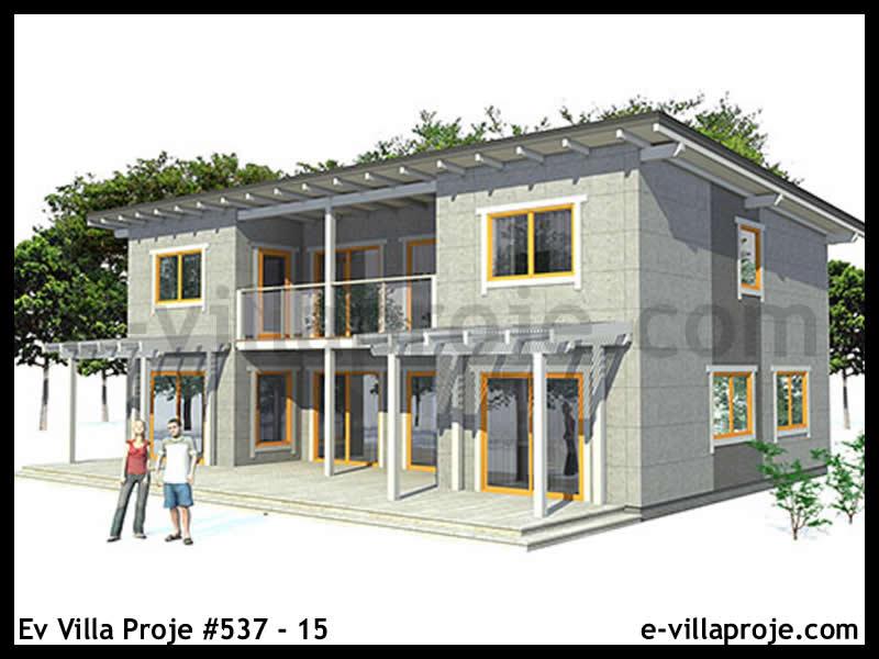 Ev Villa Proje #537 – 15, 2 katlı, 3 yatak odalı, 174 m2