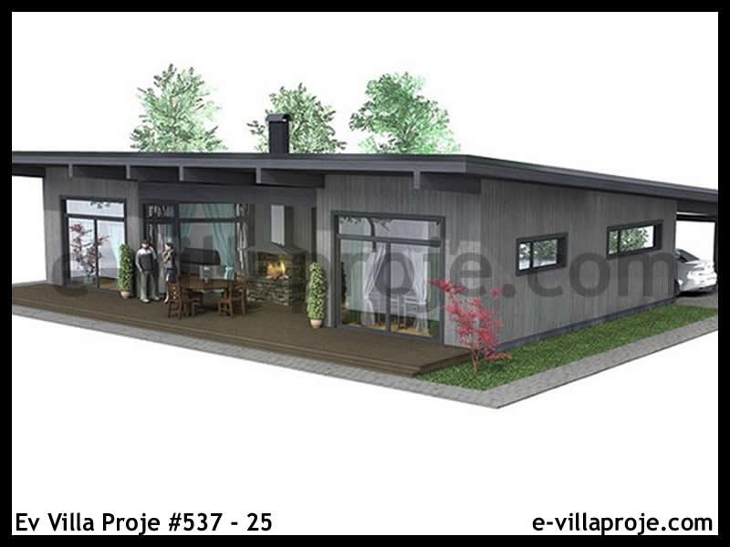 Ev Villa Proje #537 – 25, 1 katlı, 3 yatak odalı, 119 m2