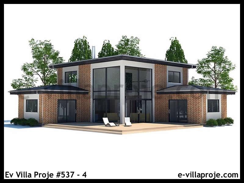 Ev Villa Proje #537 – 4, 2 katlı, 3 yatak odalı, 160 m2