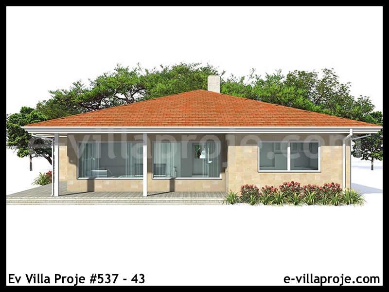 Ev Villa Proje #537 – 43, 1 katlı, 3 yatak odalı, 134 m2
