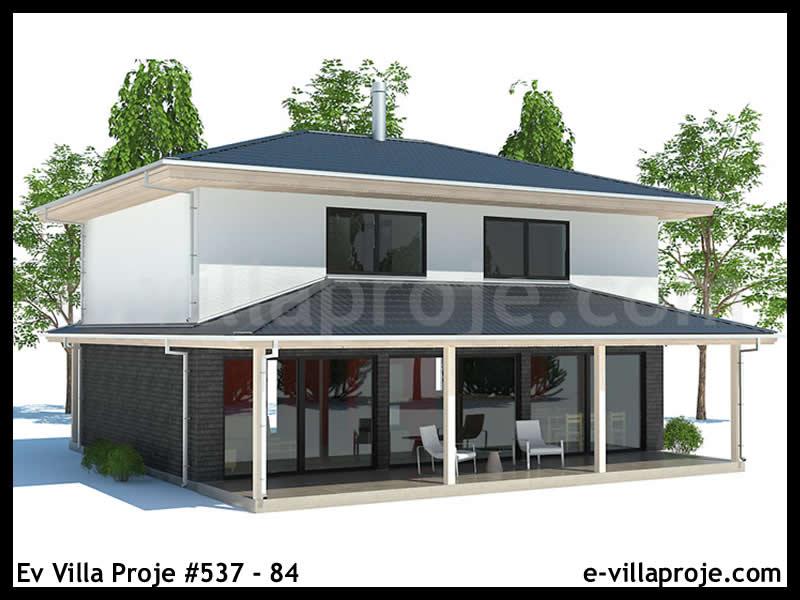 Ev Villa Proje #537 – 84, 2 katlı, 3 yatak odalı, 116 m2