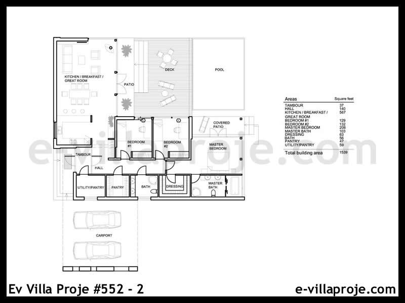 Ev Villa Proje #552 – 2
