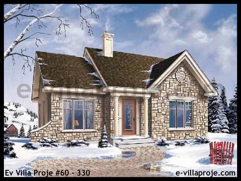 Ev Villa Proje #60 – 330, 1 katlı, 2 yatak odalı, 92 m2