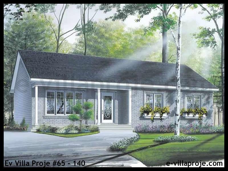 Ev Villa Proje #65 – 140, 1 katlı, 3 yatak odalı, 107 m2