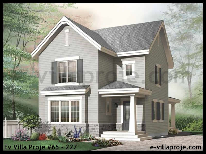 Ev Villa Proje #65 – 227, 2 katlı, 3 yatak odalı, 154 m2