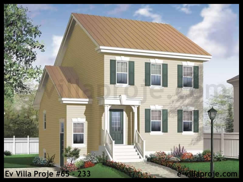 Ev Villa Proje #65 – 233, 2 katlı, 3 yatak odalı, 138 m2