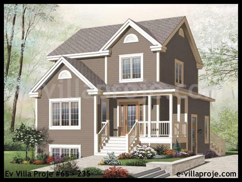 Ev Villa Proje #65 – 235, 2 katlı, 3 yatak odalı, 130 m2