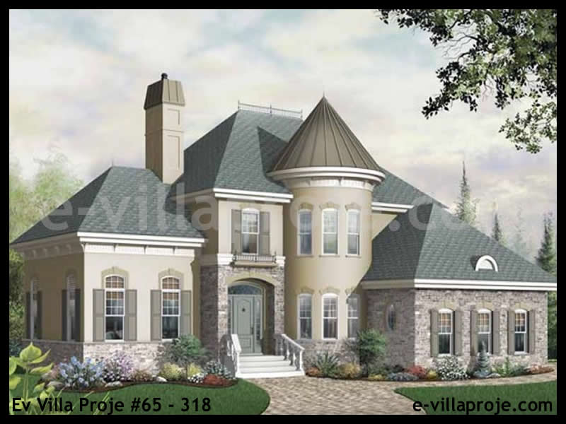Ev Villa Proje #65 – 318, 2 katlı, 3 yatak odalı, 215 m2