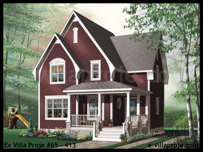 Ev Villa Proje #65 – 413, 1 katlı, 3 yatak odalı, 119 m2