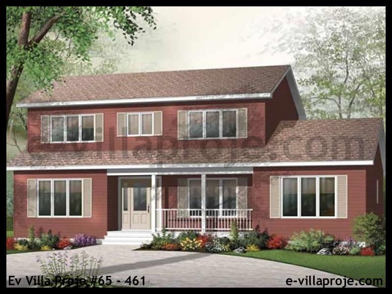 Ev Villa Proje #65 – 461, 2 katlı, 4 yatak odalı, 204 m2