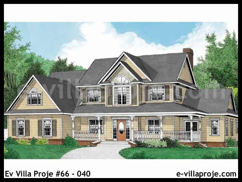 Ev Villa Proje #66 – 040, 2 katlı, 3 yatak odalı, 244 m2