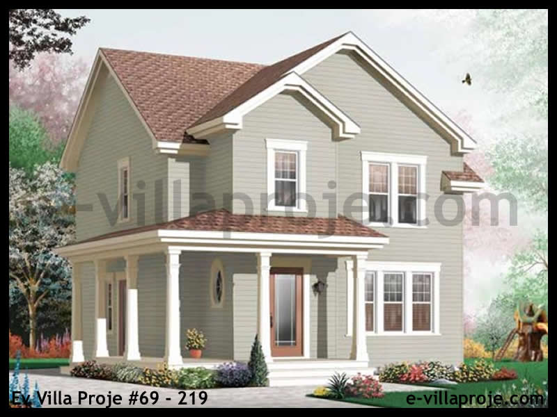 Ev Villa Proje #69 – 219, 2 katlı, 3 yatak odalı, 150 m2