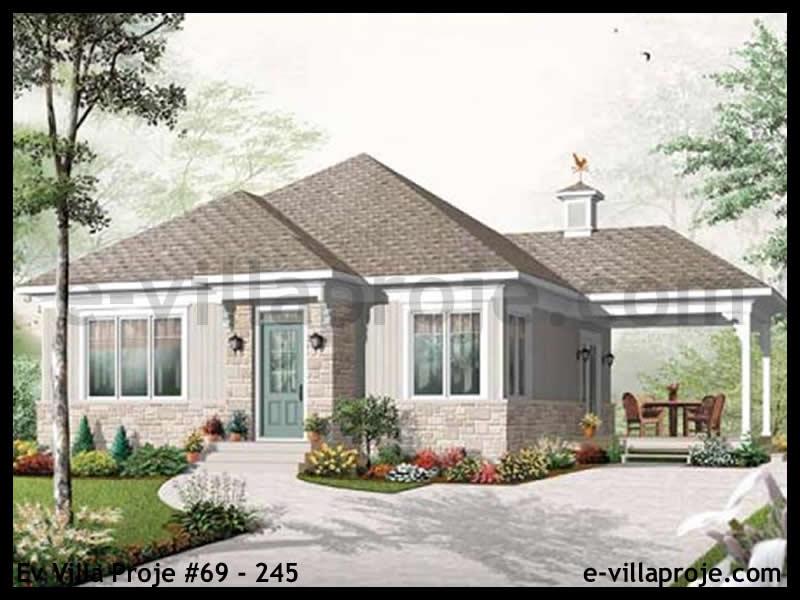 Ev Villa Proje #69 – 245, 1 katlı, 2 yatak odalı, 90 m2
