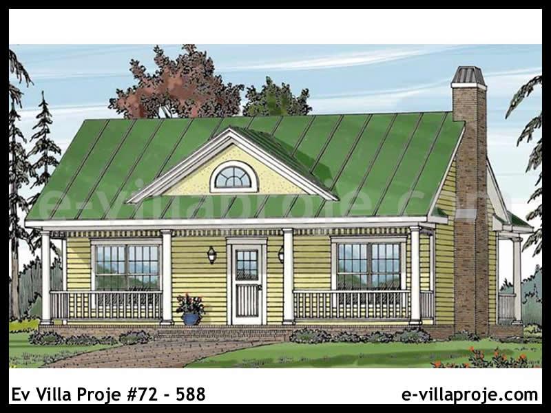 Ev Villa Proje #72 – 588, 1 katlı, 1 yatak odalı, 72 m2