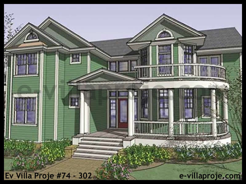 Ev Villa Proje #74 – 302, 2 katlı, 4 yatak odalı, 392 m2