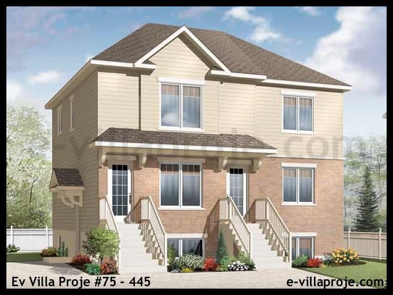 Ev Villa Proje #75 – 445, 3 katlı, 6 yatak odalı, 286 m2