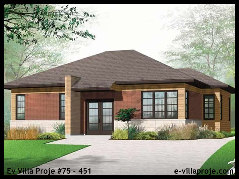 Ev Villa Proje #75 – 451, 1 katlı, 2 yatak odalı, 104 m2