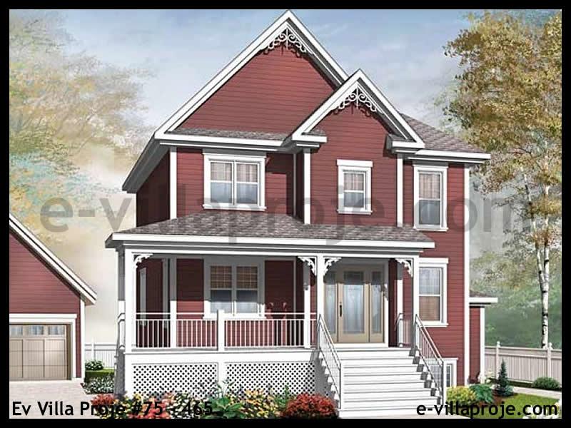 Ev Villa Proje #75 – 465, 2 katlı, 3 yatak odalı, 160 m2