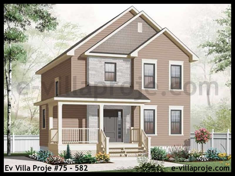 Ev Villa Proje #75 – 582, 2 katlı, 3 yatak odalı, 152 m2