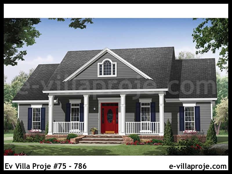 Ev Villa Proje #75 – 786, 1 katlı, 3 yatak odalı, 169 m2