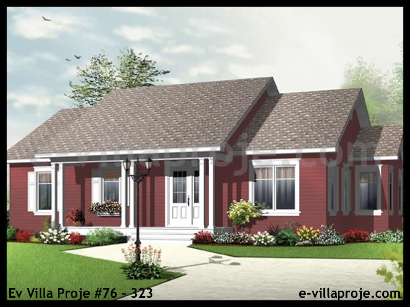 Ev Villa Proje #76 – 323, 1 katlı, 3 yatak odalı, 119 m2