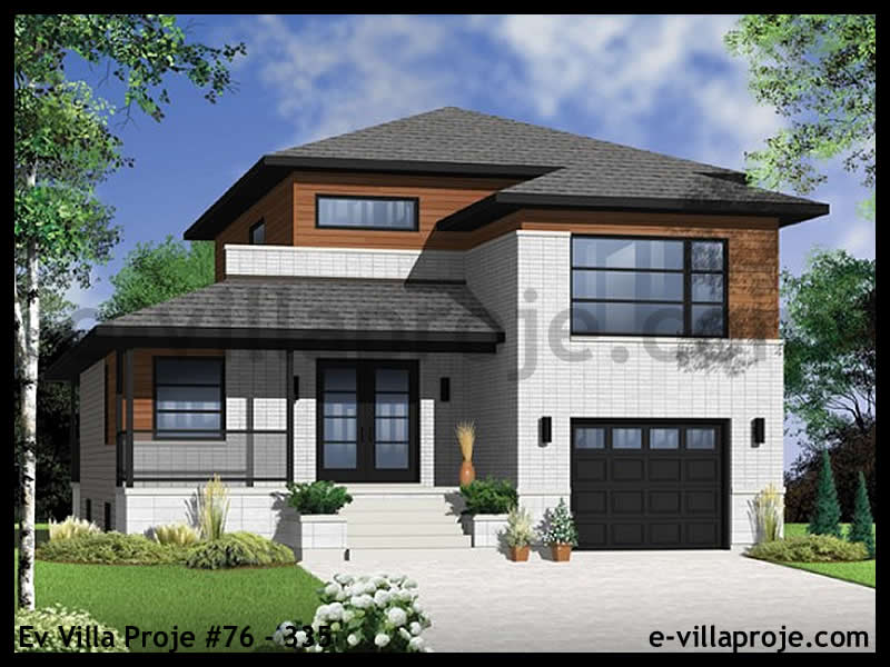 Ev Villa Proje #76 – 335, 2 katlı, 3 yatak odalı, 161 m2