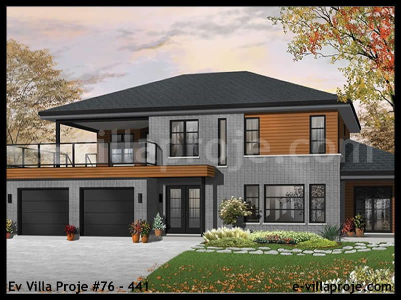 Ev Villa Proje #76 – 441, 2 katlı, 3 yatak odalı, 246 m2