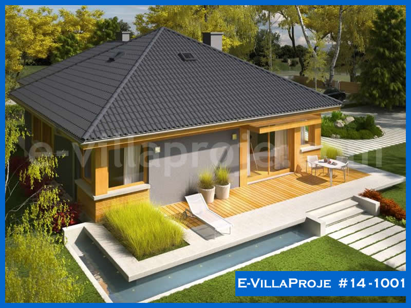 Ev Villa Proje #14 – 1001, 1 katlı, 3 yatak odalı, 1 garajlı, 123 m2