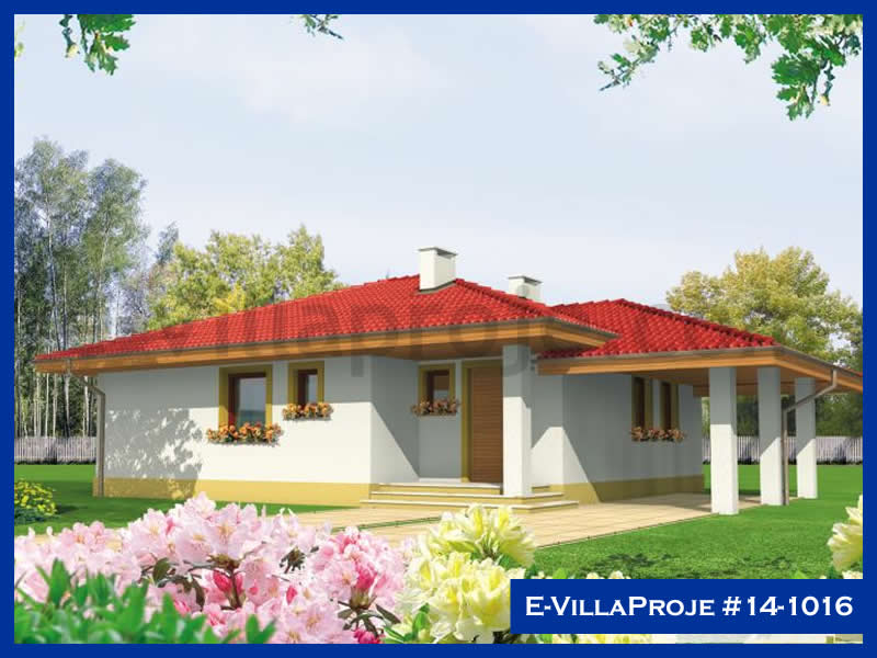 Ev Villa Proje #14 – 1016, 1 katlı, 2 yatak odalı, 96 m2