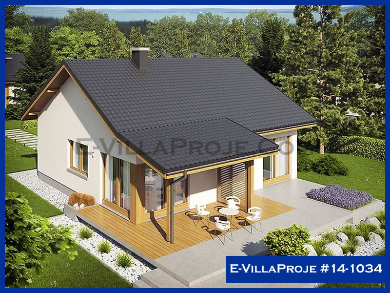 E-VillaProje #14-1034, 1 katlı, 2 yatak odalı, 0 garajlı, 106 m2