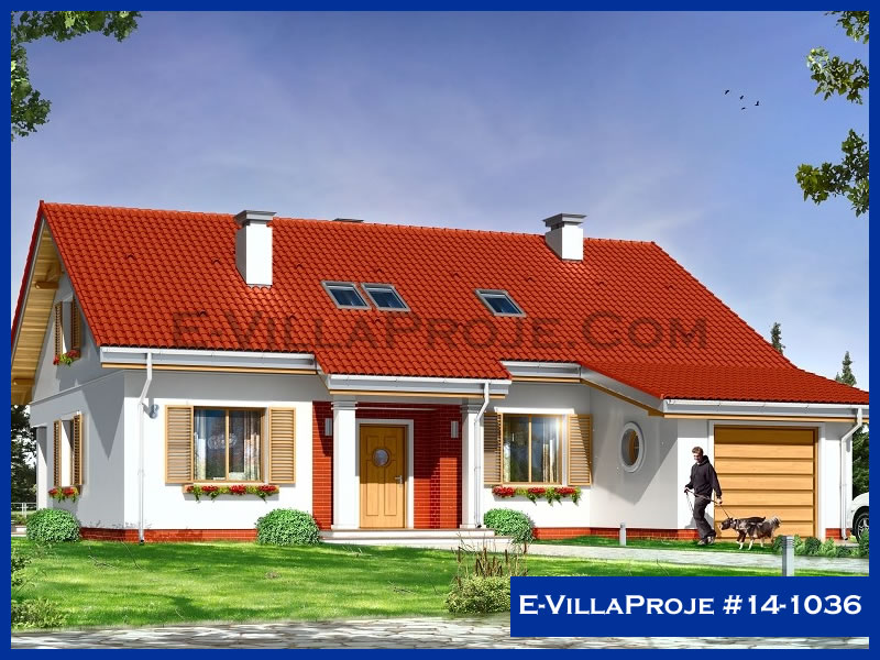E-VillaProje #14-1036, 1 katlı, 3 yatak odalı, 1 garajlı, 132 m2