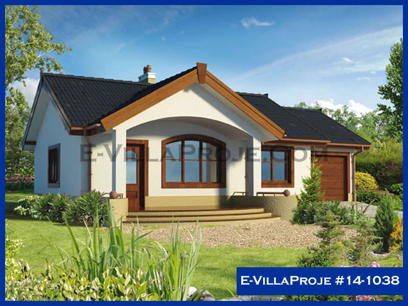 E-VillaProje #14-1038, 1 katlı, 2 yatak odalı, 1 garajlı, 81 m2