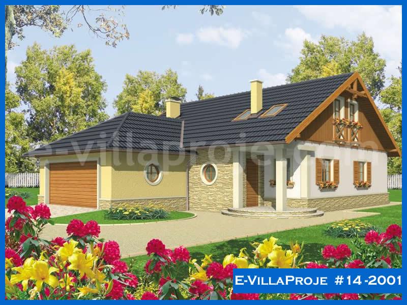 Ev Villa Proje #14 – 2001, 2 katlı, 5 yatak odalı, 2 garajlı, 180 m2