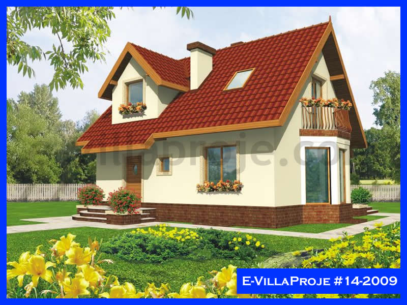 Ev Villa Proje #14 – 2009, 2 katlı, 2 yatak odalı, 110 m2