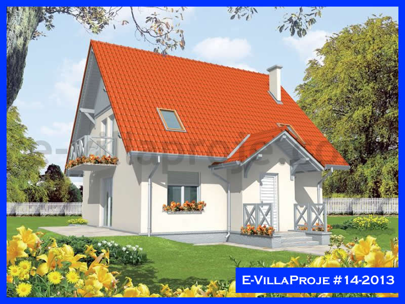 Ev Villa Proje #14 – 2013, 2 katlı, 3 yatak odalı, 146 m2